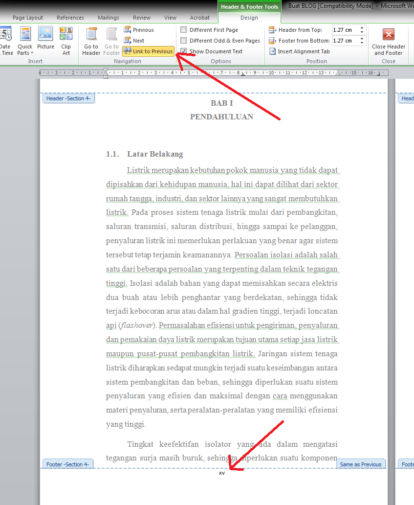 Cara Membuat Nomor Halaman Dengan Format Naskah Skripsi Ikhwan Luthfi Syafjon