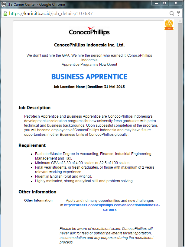 business apprentice