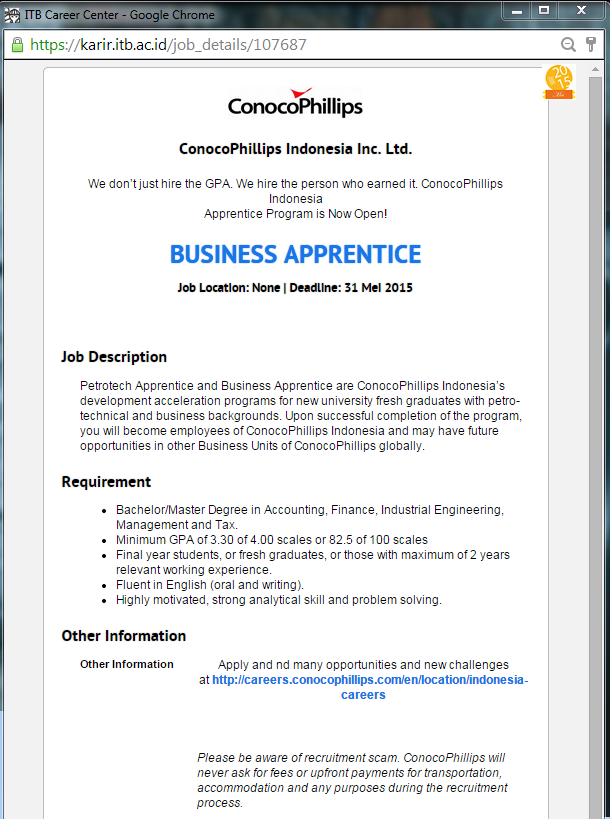 business apprentice